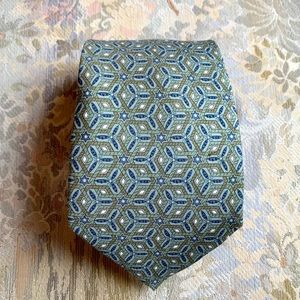 HERMES SILK TIE #7662 TA, MADE IN FRANCE